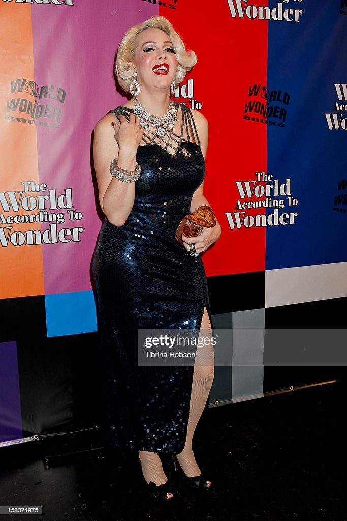Calpernia Addams attends the 'World Of Wonder' book release party at Universal Studios Backlot on December 13, 2012 in Universal City, California.