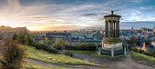 Calton HIll pillars at sunrise. Edinburgh, Scotland