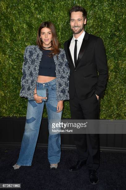 Calu Rivero and Ryan Eggold attend the CHANEL Tribeca Film Festival Artists Dinner at Balthazar on April 24 2017 in New York City
