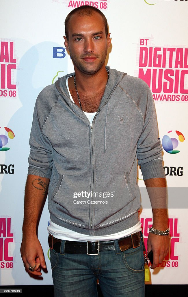 Calum Best arrives at the BT Digital Music Awards 2008 at The Roundhouse on October 1 2008 in London England