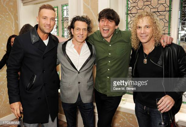 Calum Best Stephen Webster Alex James and Bon Jovi keyboardist David Bryan attend a private dinner previewing the new 'Alex James Presents' Blue...