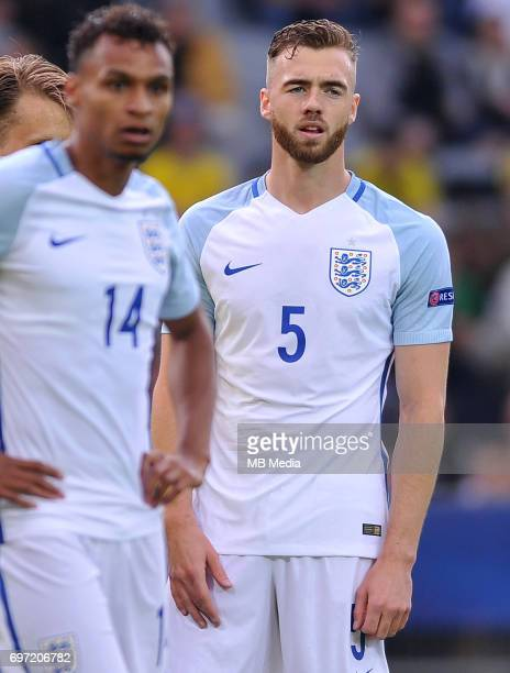 Calum Chambers during the UEFA European Under21 match between Sweden and England at Kolporter Arena on June 16 2017 in Kielce Poland