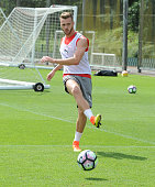 Calum Chambers of Arsenal during a training session at London Colney on July 21 2016 in St Albans England