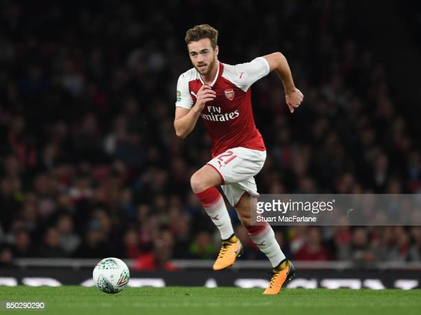 Calum Chambers of Arsenal during the Carabao Cup Third Round match between Arsenal and Doncaster Rovers at Emirates Stadium on September 19 2017 in...