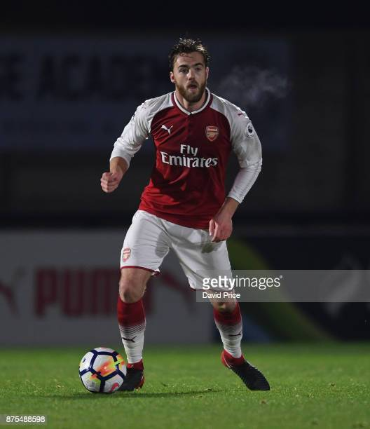 Calum Chambers of Arsenal during the match between Arsenal U23 and Porto at Meadow Park on November 17 2017 in Borehamwood England