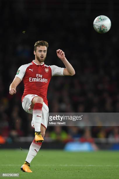 Calum Chambers of Arsenal in action during the Carabao Cup Third Round match between Arsenal and Doncaster Rovers at Emirates Stadium on September 20...