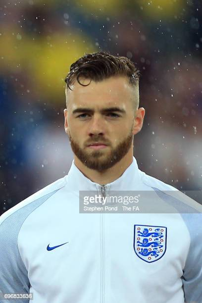 Calum Chambers of England during the 2017 UEFA European Under21 Championship match between Sweden and England at Arena Kielce on June 16 2017 in...