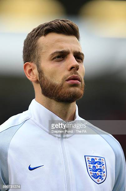 Calum Chambers of England during the UEFA European U21 Championship Qualifying match between England and Norway at Colchester Community Stadium on...