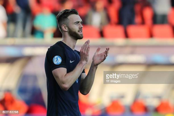 Calum Chambers of England gestures during the 2017 UEFA European Under21 Championship match between Slovakia and England on June 19 2017 in Kielce...
