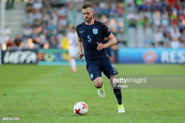 Calum Chambers of England in action during the 2017 UEFA European Under21 Championship match between Slovakia and England on June 19 2017 in Kielce...