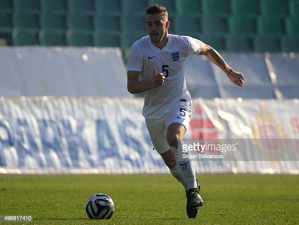Calum Chambers of England in action during the European Under 21 Qualifier match between Bosnia and Herzegovina U21 and England U21at Stadium Asim...