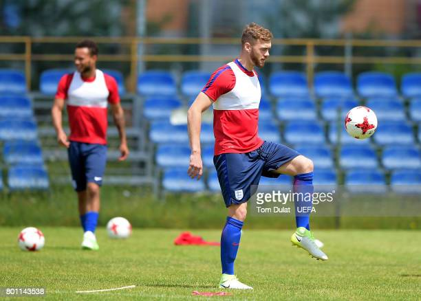 Calum Chambers of England U21 during a training session on the eve of their UEFA European Under21 Championship Semifinal against Germany on June 26...