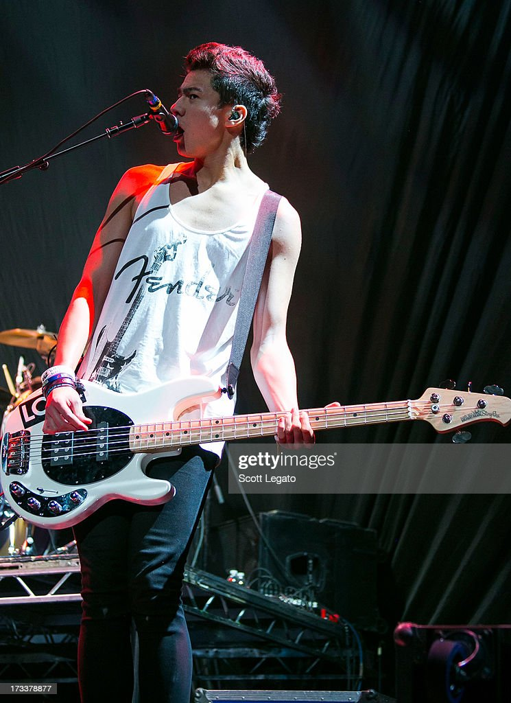 Calum Hood of 5 Seconds of Summer performs at The Palace of Auburn Hills on July 12, 2013 in Auburn Hills, Michigan.