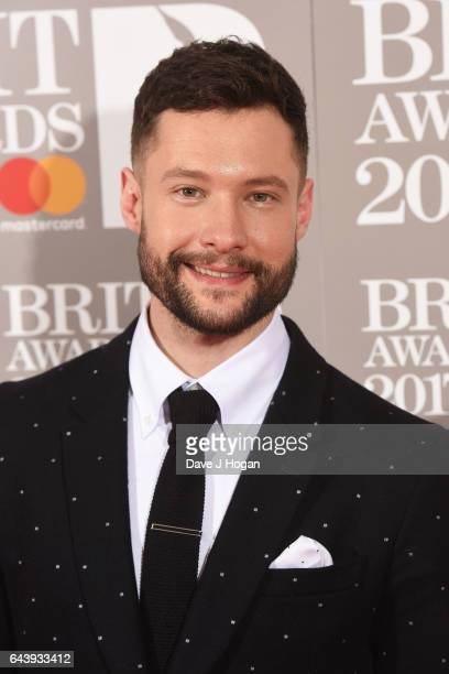ONLY Calum Scott attends The BRIT Awards 2017 at The O2 Arena on February 22 2017 in London England