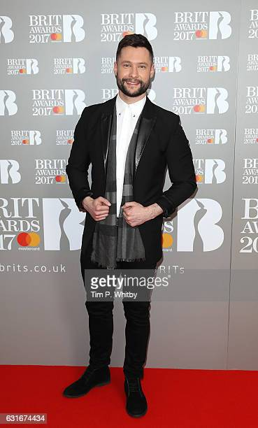 ARTIST Calum Scott attends The BRIT Awards 2017 nominations launch party at ITV Studios on January 14 2017 in London United Kingdom