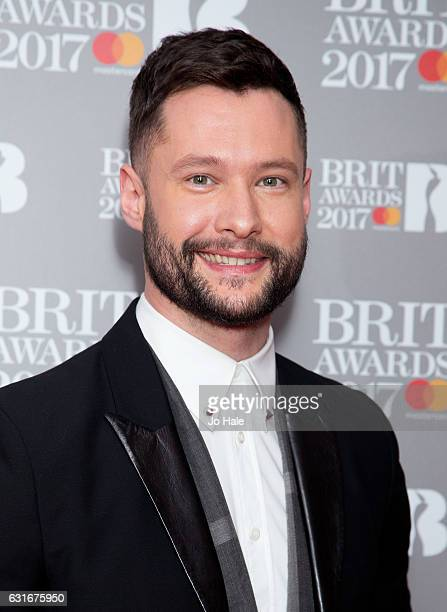 ARTIST Calum Scott attends The BRIT Awards 2017 nominations launch party on January 14 2017 in London United Kingdom