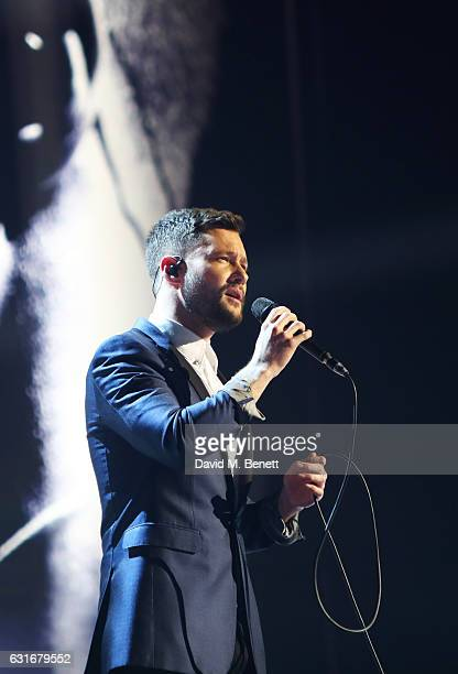Calum Scott performs at The BRIT Awards with Mastercard 2017 nominations show at ITV Studios on January 14 2017 in London England