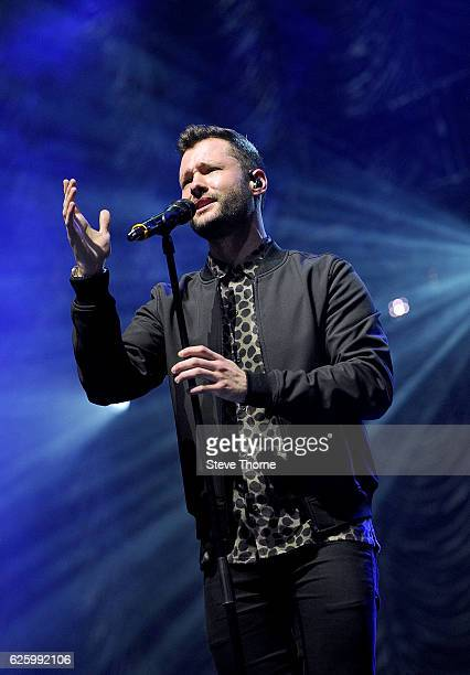 Calum Scott performs on stage during Free Radio Live 2016 at the Genting Arena on November 26 2016 in Birmingham United Kingdom