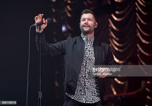 Calum Scott performs on stage during Metro Radio Christmas Live at Metro Radio Arena on December 16 2016 in Newcastle upon Tyne England