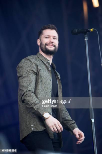 Calum Scott performs on stage for Day2 of RedfestDXB on February 4 2017 in Dubai United Arab Emirates