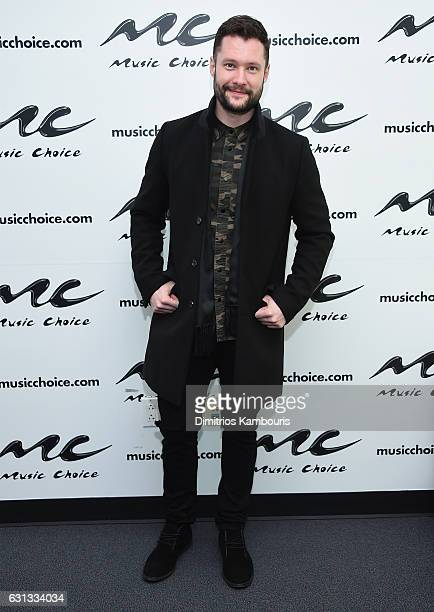 Calum Scott visits Music Choice at Music Choice on January 9 2017 in New York City