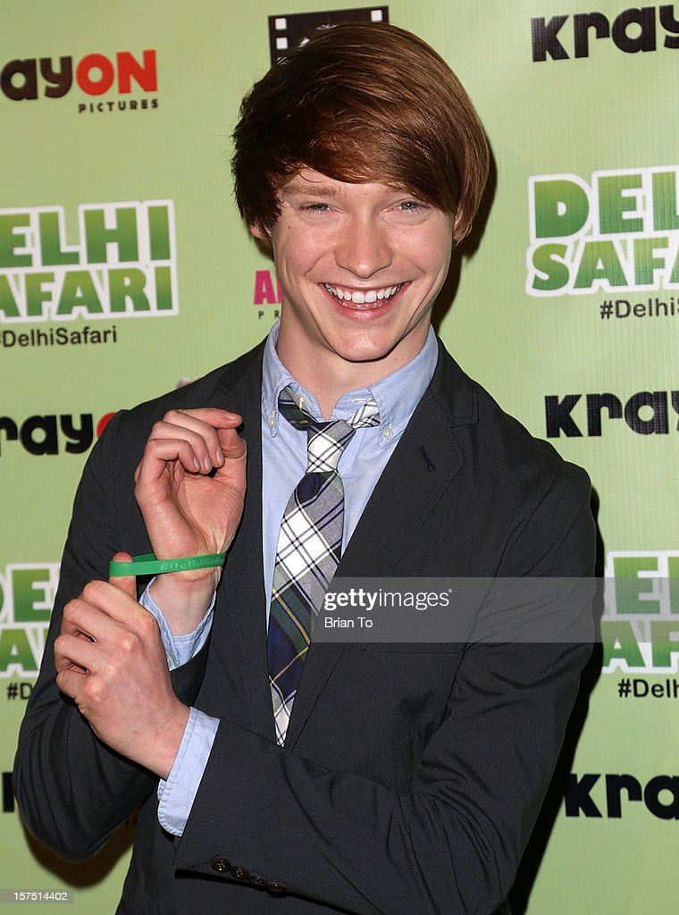 Calum Worthy attends 'Delhi Safari' - Los Angeles premiere at Pacific Theatre at The Grove on December 3, 2012 in Los Angeles, California.