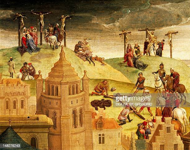 Calvary detail from the Passion of Christ by Hans Memling oil on panel 57x92 cm Turin Galleria Sabauda