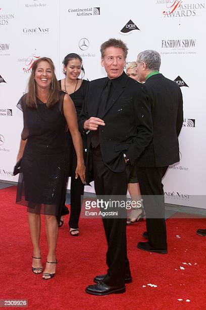 Calvin and Kelly Klein after getting hit with a pie by an antifur demonstrator at the 20th Annual American Fashion Awards at Avery Fisher Hall...