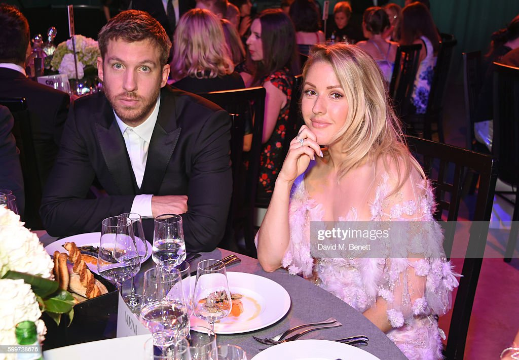 Calvin Harris (L) and Ellie Goulding attend the GQ Men Of The Year Awards 2016 at the Tate Modern on September 6, 2016 in London, England.