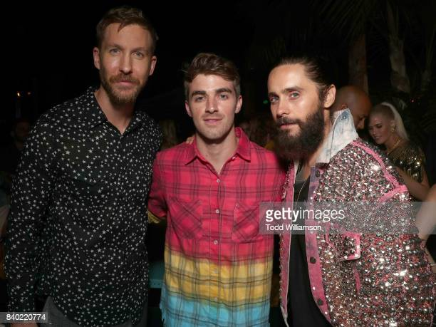 Calvin Harris Andrew Taggart of The Chainsmokers and Jared Leto attend a Calvin Harris and Emil Nava MTV VMA Post Party with TIDAL x Sprint in the...