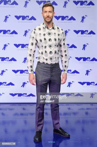 Calvin Harris attends the 2017 MTV Video Music Awards at The Forum on August 27 2017 in Inglewood California