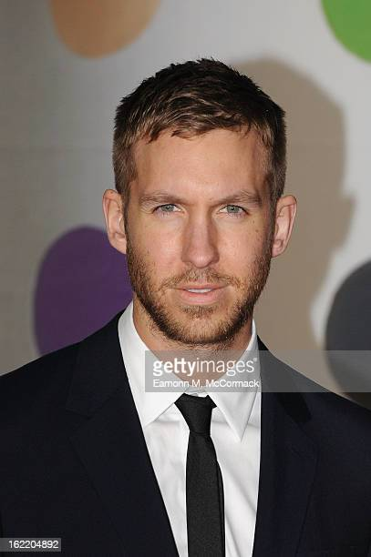 Calvin Harris attends the Brit Awards 2013 at the 02 Arena on February 20 2013 in London England