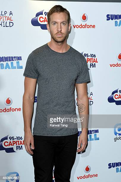 Calvin Harris attends the Capital Summertime Ball at Wembley Stadium on June 21 2014 in London England