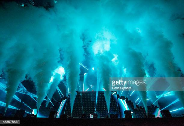 Calvin Harris headlines the Glasgow Summer Sessions at Bellahouston Park on August 30 2015 in Glasgow Scotland
