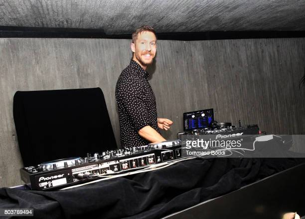 Calvin Harris performs at his album launch party at a private residence on June 29 2017 in Los Angeles California