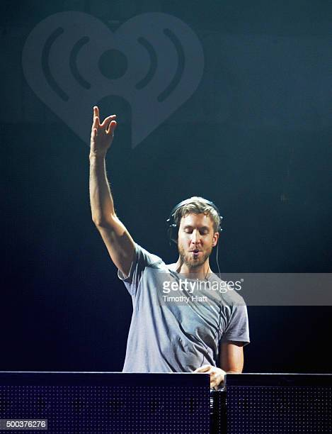 Calvin Harris performs onstage during 1013 KDWB's Jingle Ball 2015 at Xcel Energy Center on December 7 2015 in St Paul Minnesota