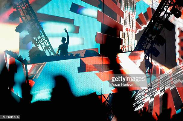 Calvin Harris performs onstage during day 3 of the 2016 Coachella Valley Music And Arts Festival Weekend 1 at the Empire Polo Club on April 17 2016...