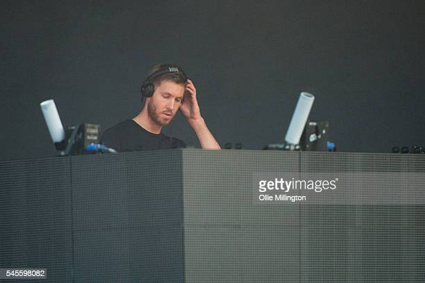 Calvin Harris performs onstage headlining Day 1 of Wireless Festival 2016 at Finsbury Park on July 8 2016 in London England