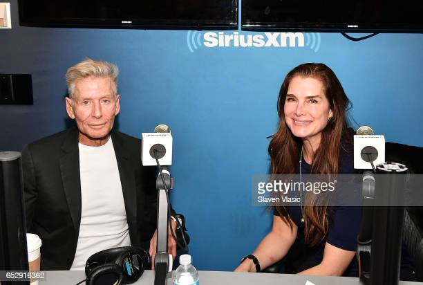 Calvin Klein and Brooke Shields pose for photo at 'Brooke Shields Now' at SiriusXM Studios on March 13 2017 in New York City