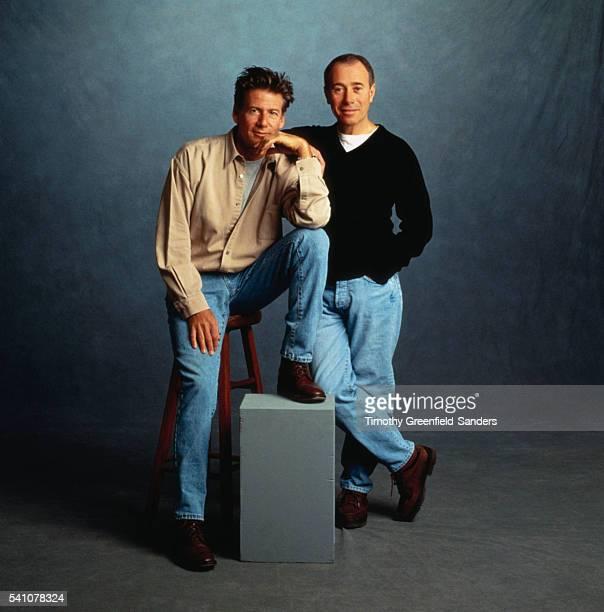 Calvin Klein and David Geffen