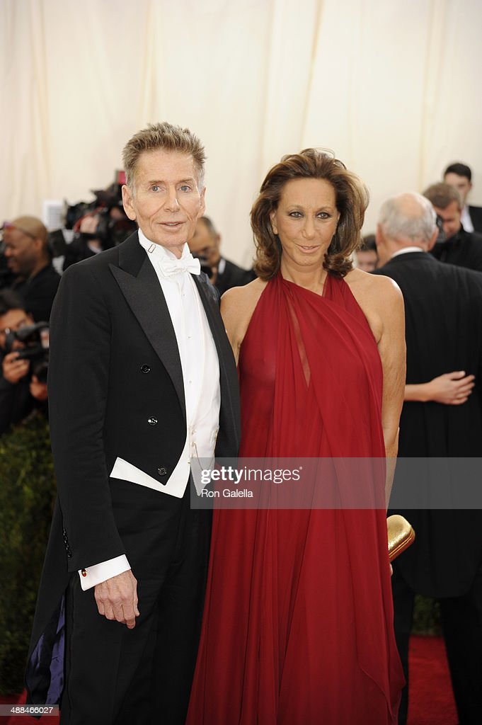 Calvin Klein and Donna Karan attend 'Charles James: Beyond Fashion' Costume Institute Gala at the Metropolitan Museum of Art on May 5, 2014 in New York City.