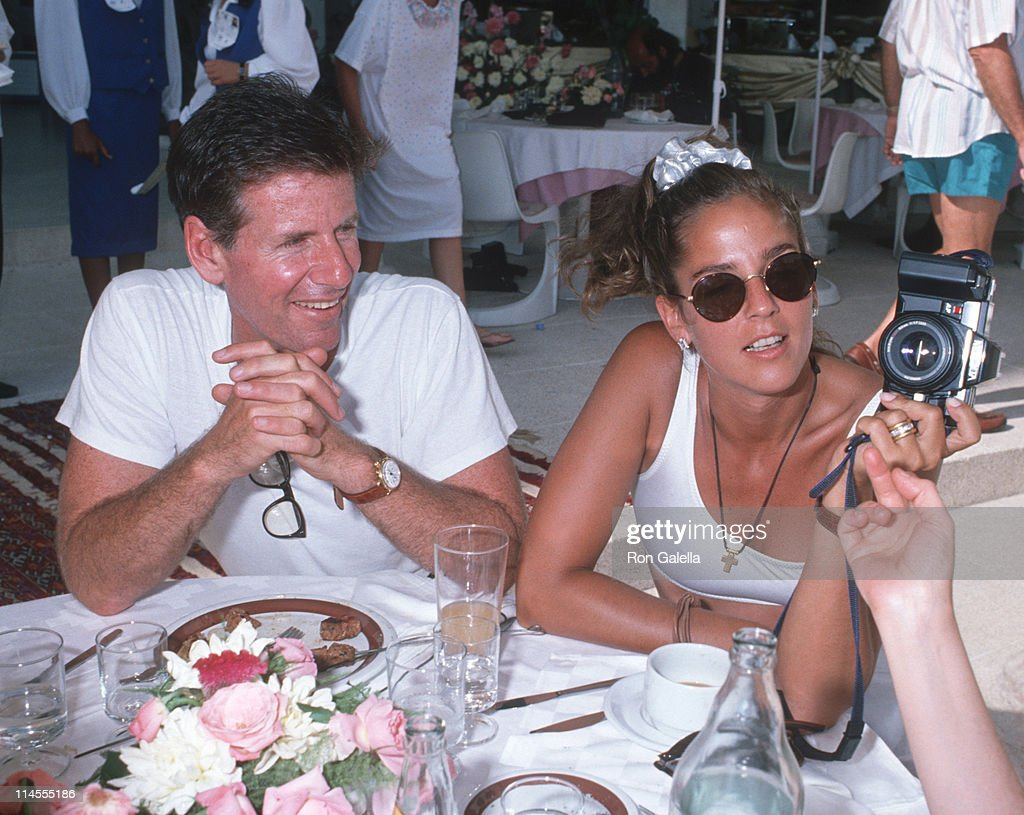 Calvin Klein and <a gi-track='captionPersonalityLinkClicked' href=/galleries/search?phrase=Kelly+Klein&family=editorial&specificpeople=556225 ng-click='$event.stopPropagation()'>Kelly Klein</a> during Malcolm Forbes' 70th Birthday Party, 1989 at Tangier Country Club in Tangier, Morocco, Morocco.