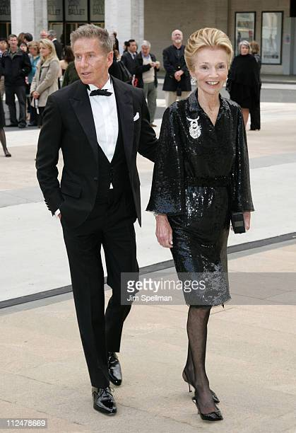 Calvin Klein and Lee Radziwill attend the 69th Annual American Ballet Theatre Spring Gala at The Metropolitan Opera House on May 18 2009 in New York...