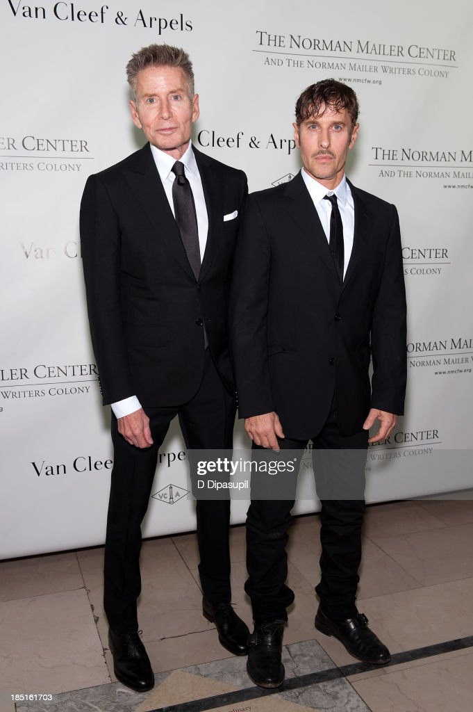 Calvin Klein (L) and <a gi-track='captionPersonalityLinkClicked' href=/galleries/search?phrase=Steven+Klein&family=editorial&specificpeople=624427 ng-click='$event.stopPropagation()'>Steven Klein</a> attend the 2013 Norman Mailer Center gala at the New York Public Library on October 17, 2013 in New York City.
