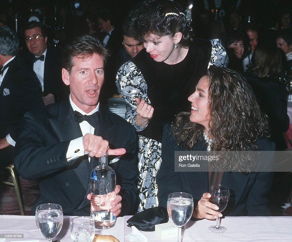 Calvin Klein, guest and <a gi-track='captionPersonalityLinkClicked' href=/galleries/search?phrase=Kelly+Klein&family=editorial&specificpeople=556225 ng-click='$event.stopPropagation()'>Kelly Klein</a> during Simon Wiesenthal Center Honors Senator Ted Kennedy at Marriott Marquis Hotel in New York City, New York, United States.