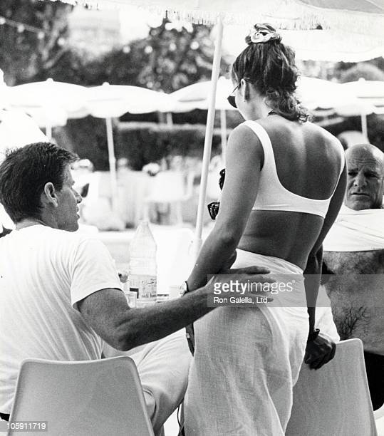 Calvin Klein Kelly Klein and Barry Diller during Malcolm Forbes' 70th Birthday Party 1989 at Tangier Country Club in Tangier Morocco Morocco