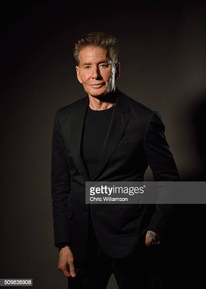 Calvin Klein poses for a portrait before addressing the Cambridge Union Society at The Cambridge Union on February 12 2016 in Cambridge Cambridgeshire