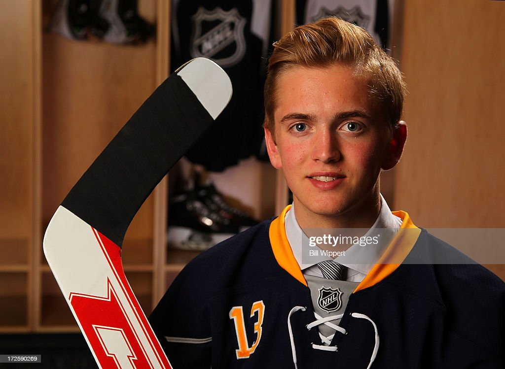 Calvin Petersen, 129th pick overall by the Buffalo Sabres, poses for a portrait during the 2013 NHL Draft at Prudential Center on June 30, 2013 in Newark, New Jersey.