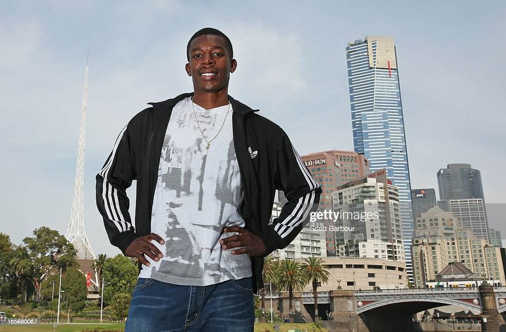 Calvin Smith of the United States of America poses during the John Landy Lunch on April 5, 2013 in Melbourne, Australia. Smith will compete in the Qantas Melbourne World Challenge.