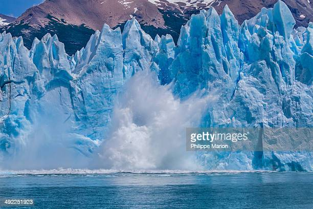 A calving iceberg falls - Perito Moreno Glacier